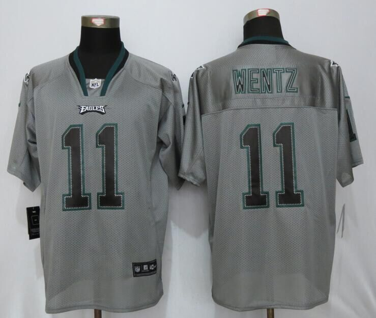 Philadelphia Eagles 11 Wentz Lights Out Gray New Nike Elite Jersey