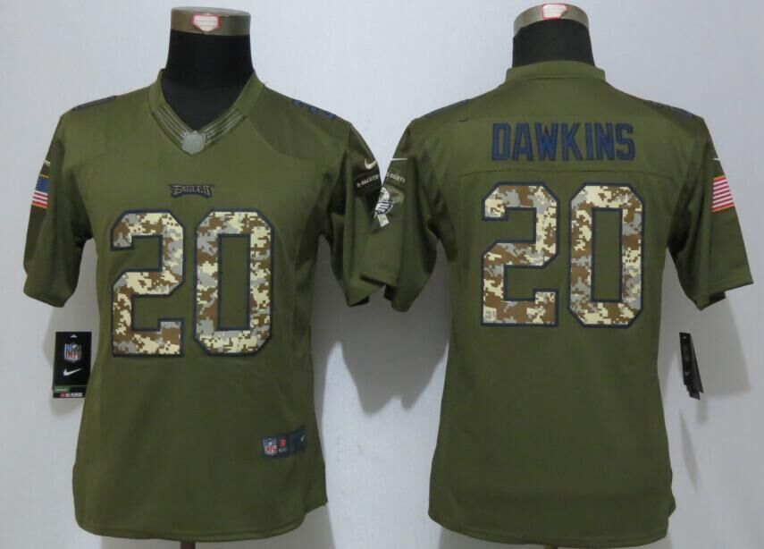 Philadelphia Eagles 20 Dawkins Green Salute To Service Nike Limited Jersey