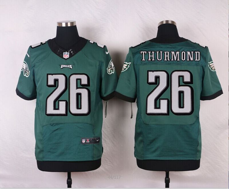 NFL Customize Philadelphia Eagles 26 Thurmond Green Men Nike Elite Jerseys