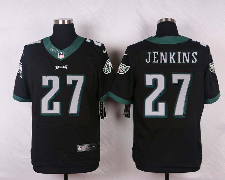 NFL Customize Philadelphia Eagles 27 Malcolm Jenkins Black Men Nike Elite Jerseys
