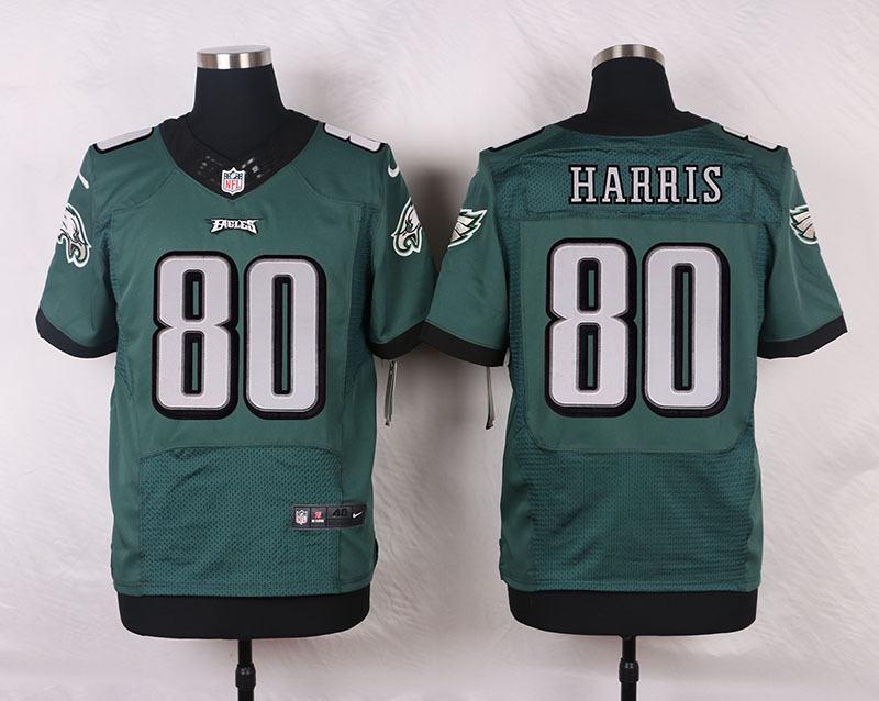 NFL Customize Philadelphia Eagles 80 Harris Green Men Nike Elite Jerseys
