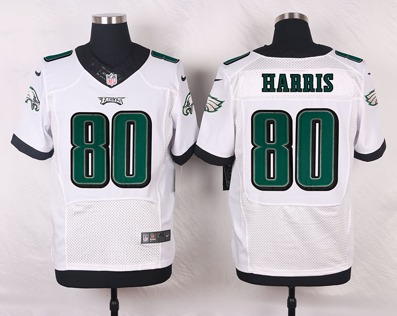 NFL Customize Philadelphia Eagles 80 Harris White Men Nike Elite Jerseys