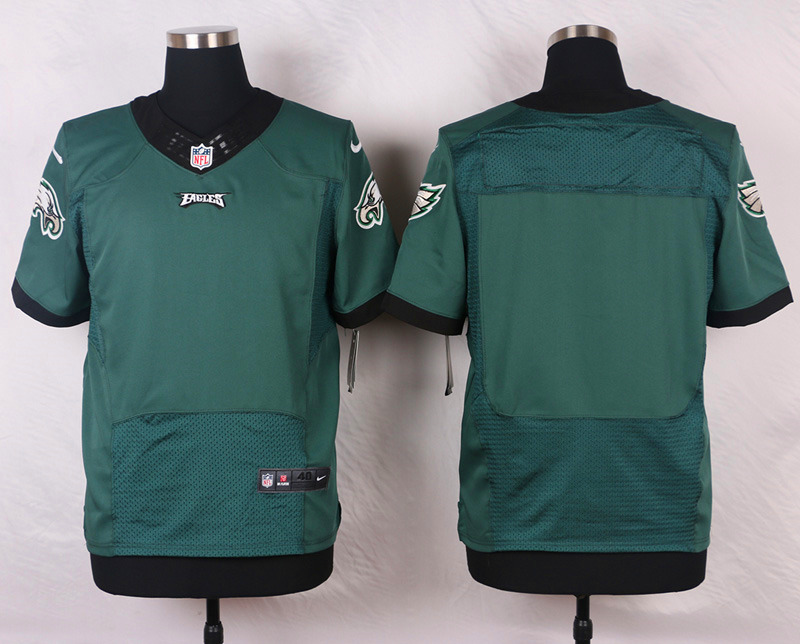 NFL Customize Philadelphia Eagles Blank Name Green Men Nike Elite Jerseys