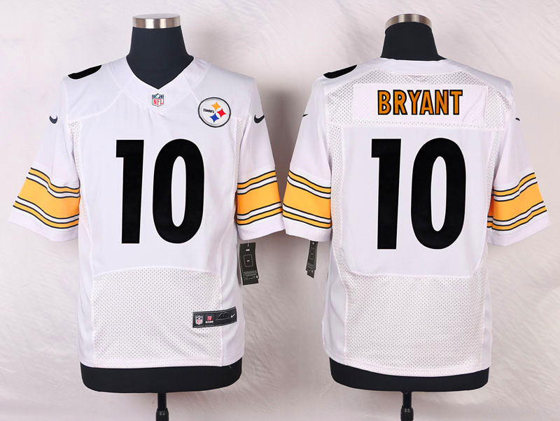 NFL Customize Pittsburgh Steelers 10 Bryant White Men Nike Elite Jerseys
