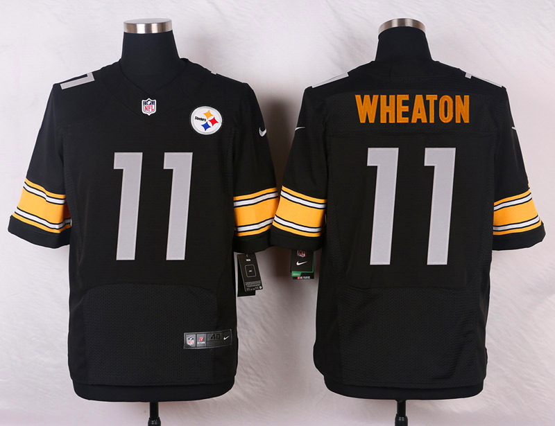 NFL Customize Pittsburgh Steelers 11 Wheaton Black Men Nike Elite Jerseys