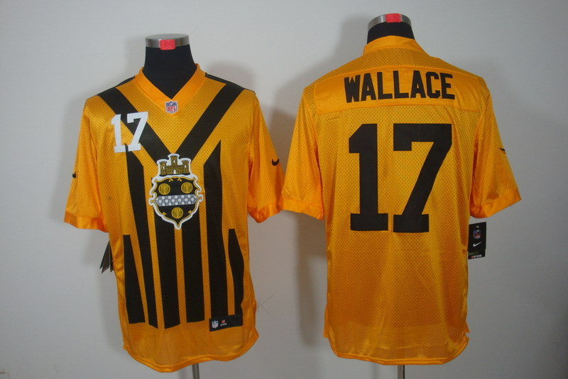 Pittsburgh Steelers 17 Wallace nike yellow 1993 jerseys