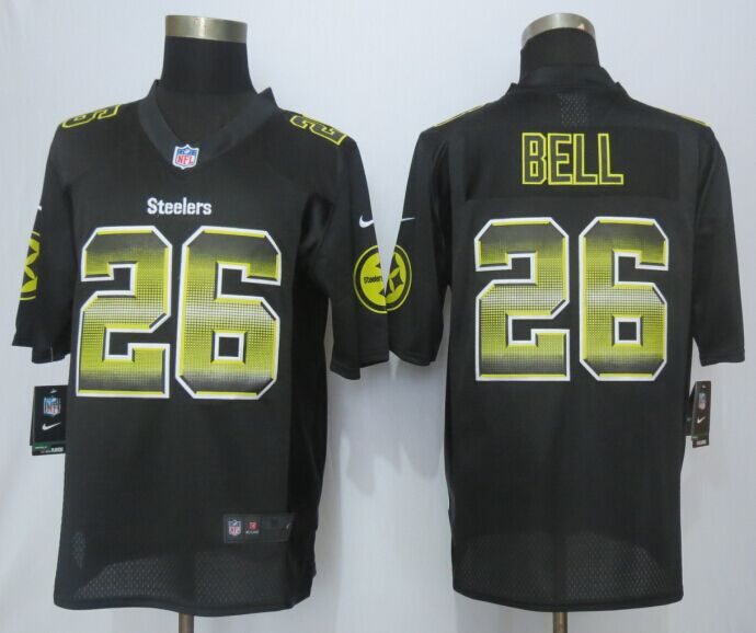 Pittsburgh Steelers 26 Bell Black Strobe 2015 New Nike Limited Jersey