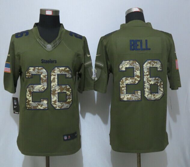 Pittsburgh Steelers 26 Bell Green New Nike Salute To Service Limited Jersey