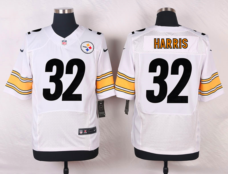NFL Customize Pittsburgh Steelers 32 Harris White Men Nike Elite Jerseys
