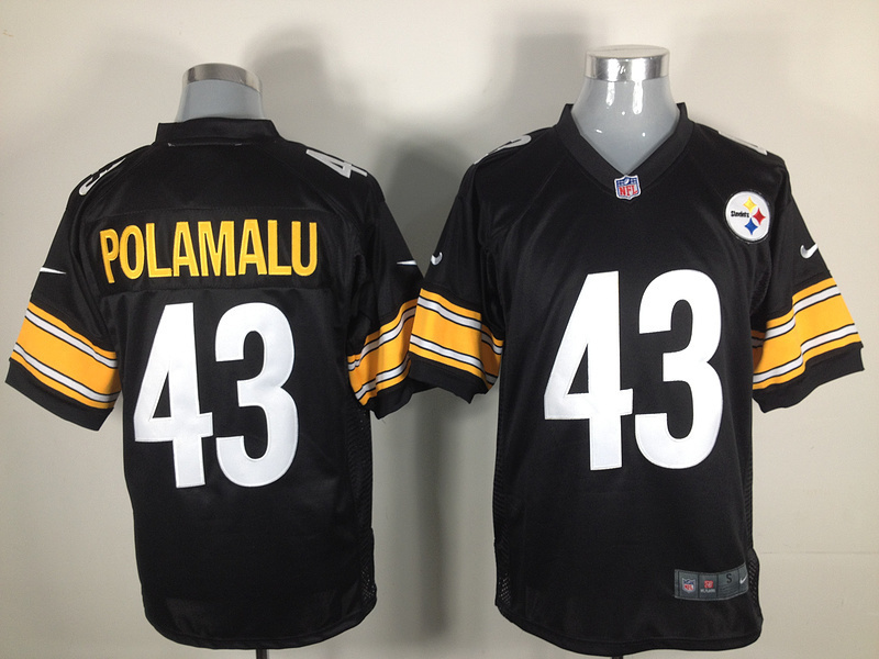 Pittsburgh Steelers 43 Polamalu Black Nike Game Jersey