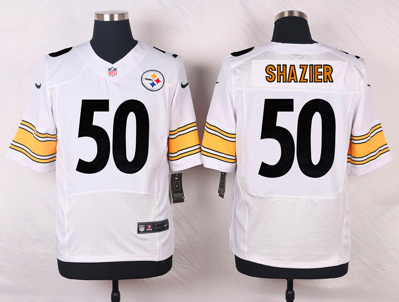 NFL Customize Pittsburgh Steelers 50 Shazier White Men Nike Elite Jerseys