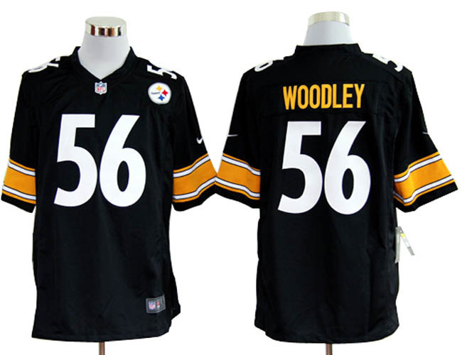 Pittsburgh Steelers 56 Woodley Black Nike Game Jerseys