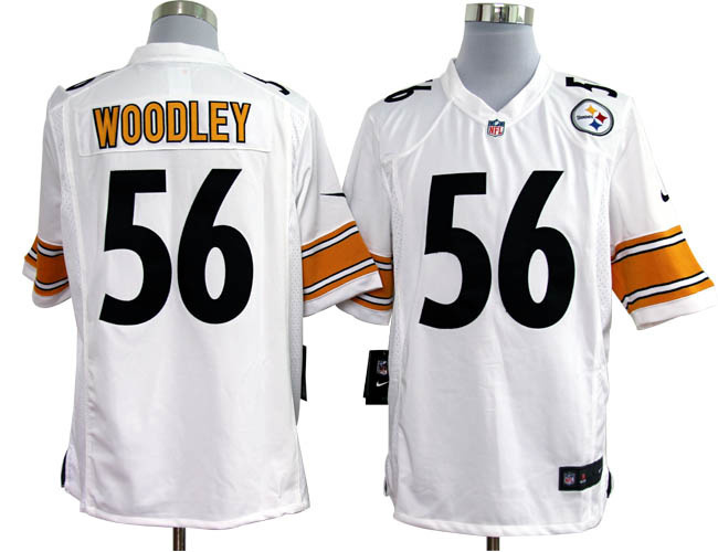 Pittsburgh Steelers 56 Woodley White Nike Game Jerseys