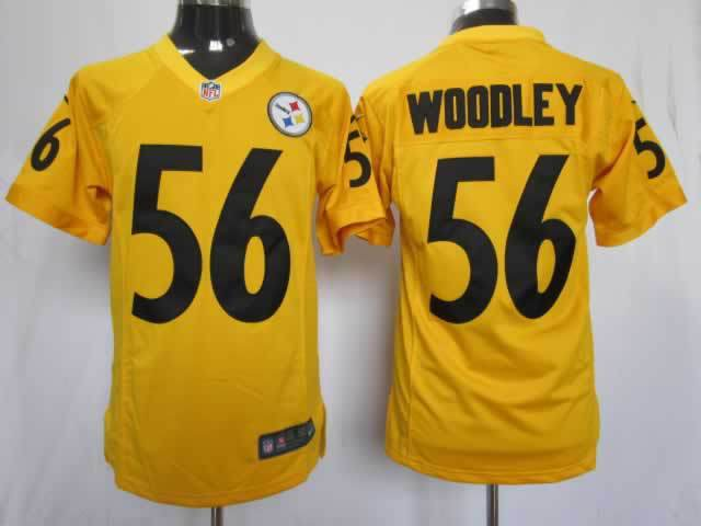 Pittsburgh Steelers 56 Woodley Yellow Nike Game Jerseys