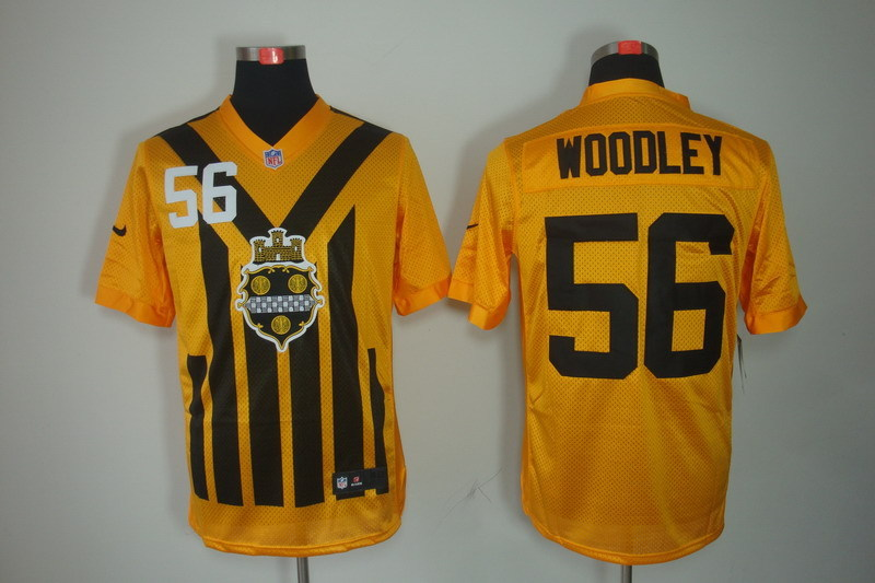 Pittsburgh Steelers 56 Woodley nike yellow 1993 jerseys