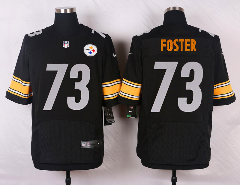 NFL Customize Pittsburgh Steelers 73 Foster Black Men Nike Elite Jerseys