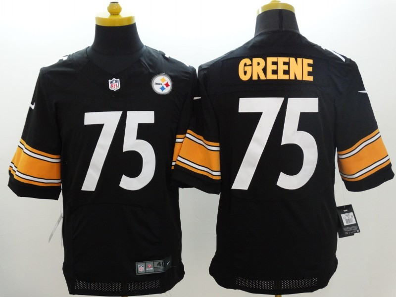 Pittsburgh Steelers 75 Greene Black Nike Elite Jerseys