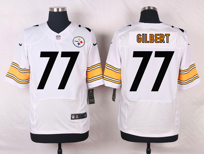 NFL Customize Pittsburgh Steelers 77 Gilbert White Men Nike Elite Jerseys