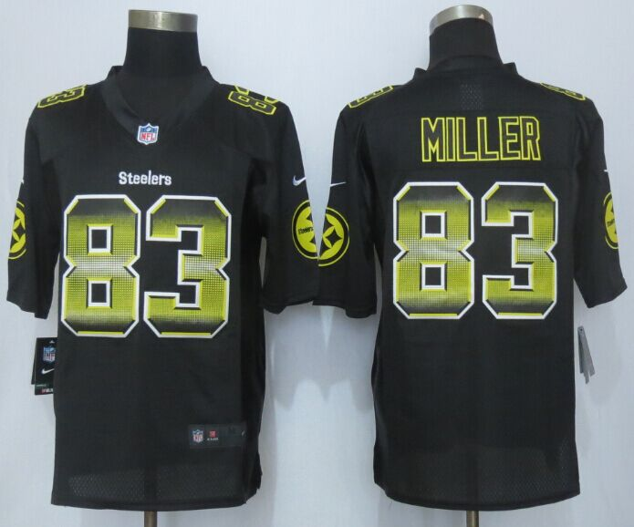 Pittsburgh Steelers 83 Miller Black Strobe 2015 New Nike Limited Jersey