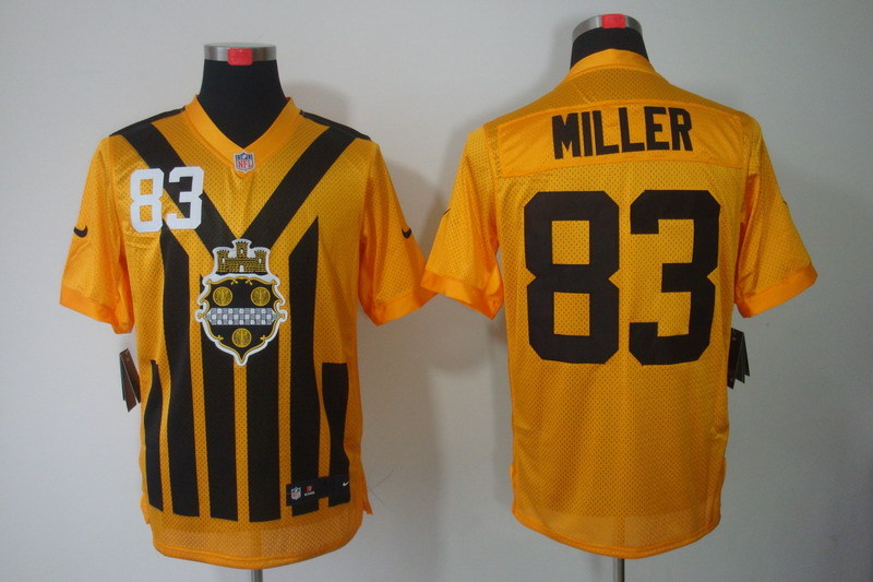 Pittsburgh Steelers 83 Miller nike yellow 1993 jerseys