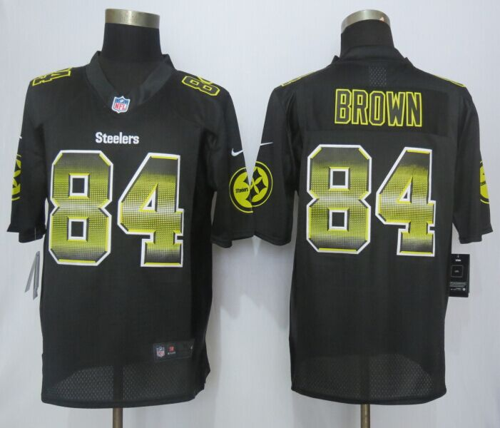 Pittsburgh Steelers 84 Brown Black Strobe 2015 New Nike Limited Jersey