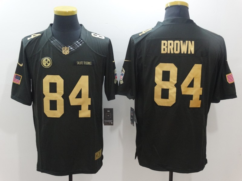 Pittsburgh Steelers 84 Brown Green Nike 2016 christmas gold edition jersey