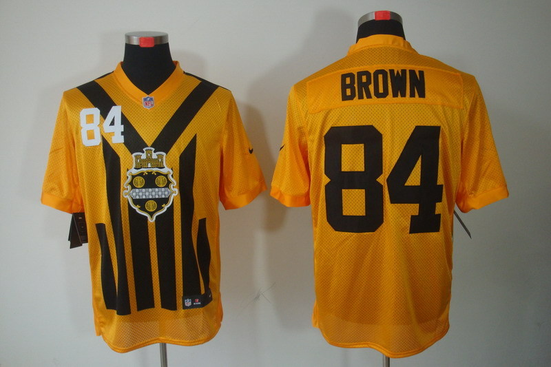 Pittsburgh Steelers 84 Brown nike yellow 1993 jerseys