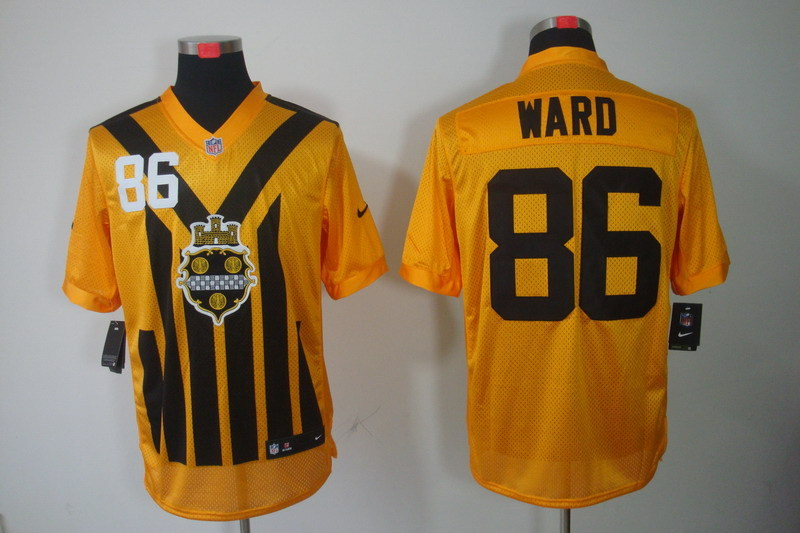 Pittsburgh Steelers 86 Ward nike yellow 1993 jerseys