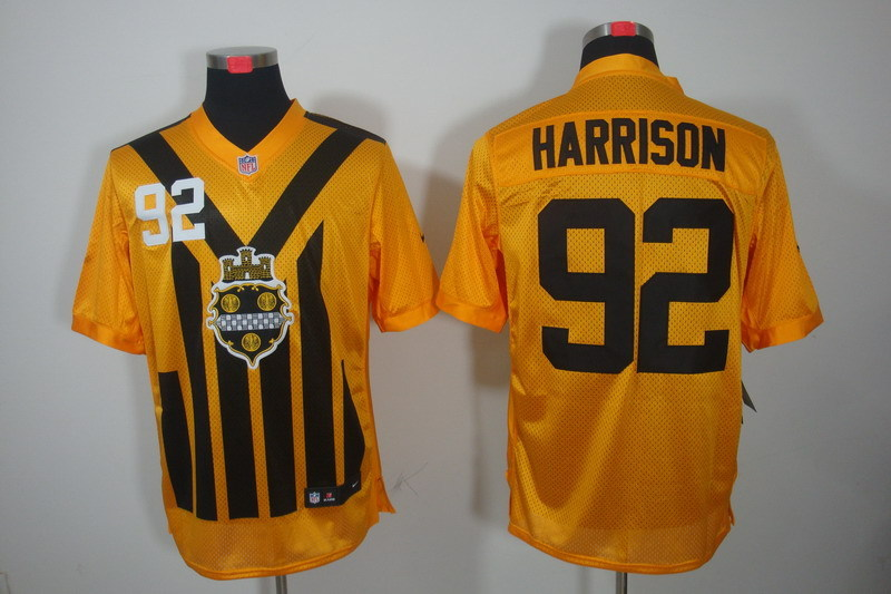 Pittsburgh Steelers 92 Harrison nike yellow 1993 jerseys