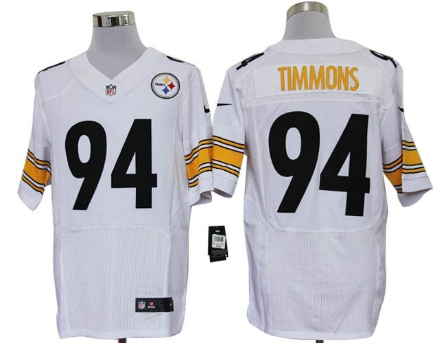 Pittsburgh Steelers 94 Timmons White Nike Elite Jerseys