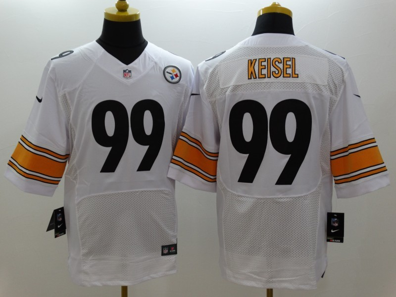 Pittsburgh Steelers 99 Keisel White Nike Elite Jerseys