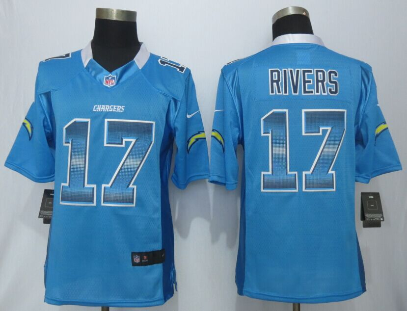 San Diego Charger 17 Rivers Blue Strobe 2015 New Nike Limited Jersey