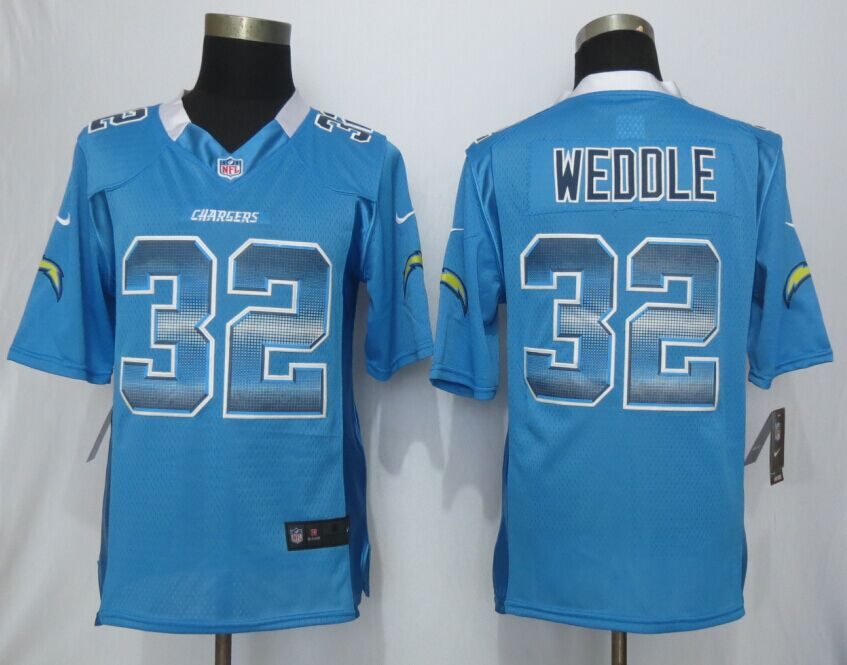 San Diego Charger 32 Weddle Blue Strobe 2015 New Nike Limited Jersey