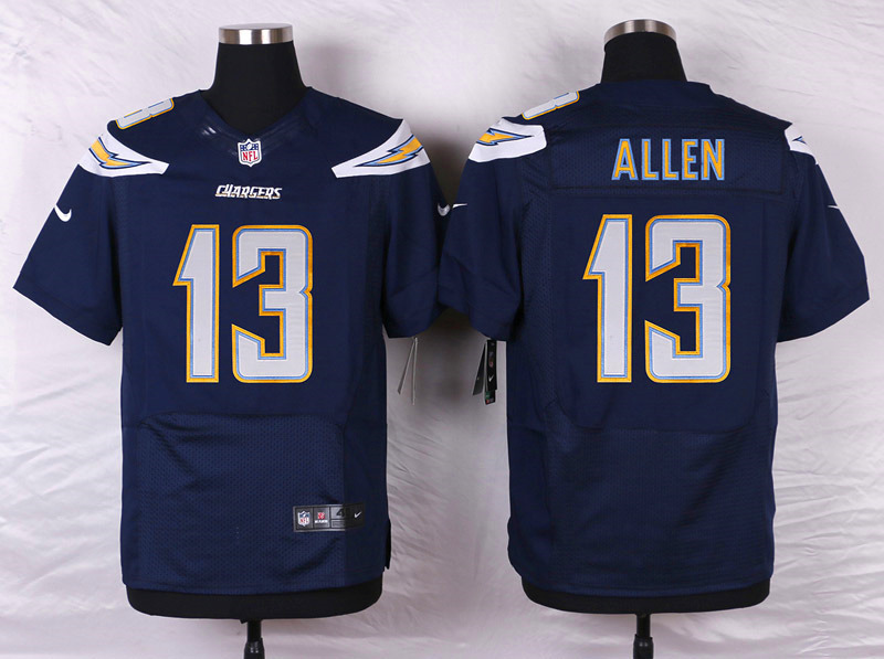NFL Customize Los Angeles Chargers 13 Allen Blue Men Nike Elite Jerseys