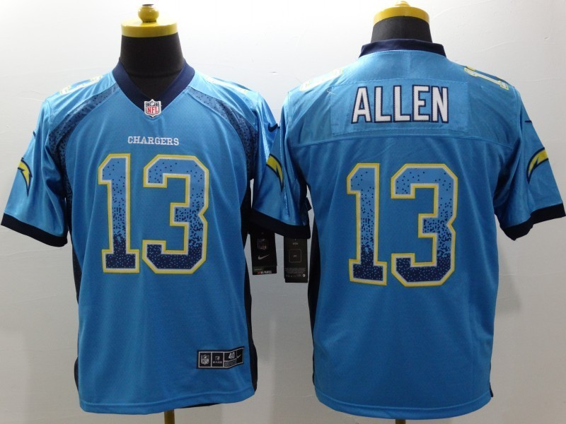 Los Angeles Chargers13 Keenan Allen Blue Drift Fashion Nike Elite Jerseys