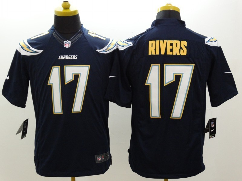 Los Angeles Chargers 17 Rivers Blue Nike Limited Jerseys