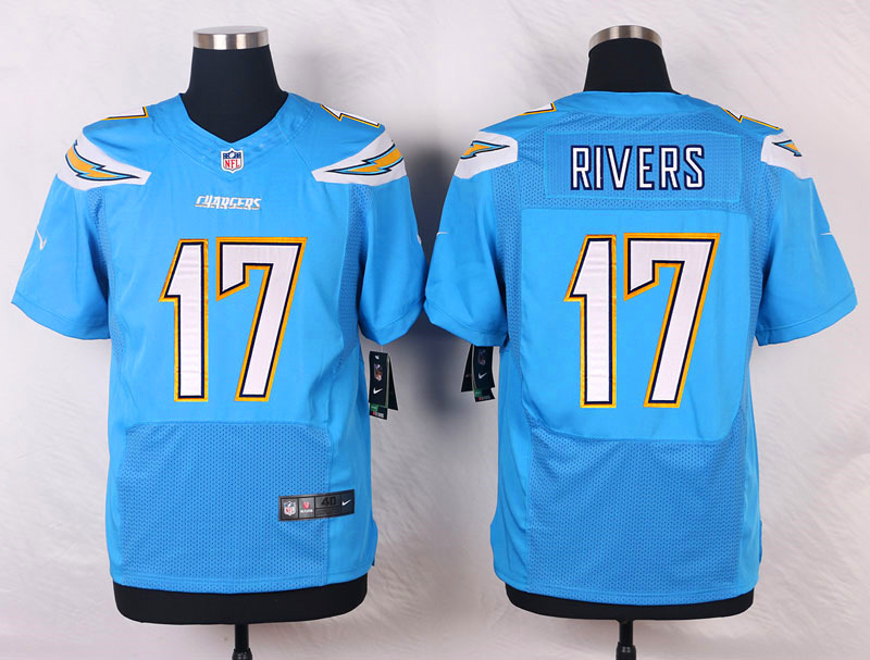 NFL Customize Los Angeles Chargers 17 Rivers Light Blue 2015 Nike Elite Jersey