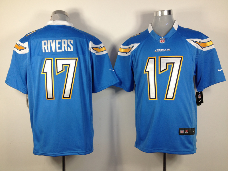 Los Angeles Chargers 17 Rivers Light Blue Nike Game Jersey