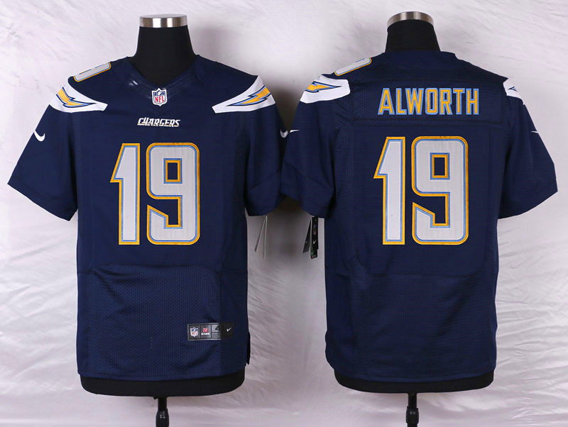 NFL Customize San Diego Chargers 19 Alworth Blue Men Nike Elite Jerseys