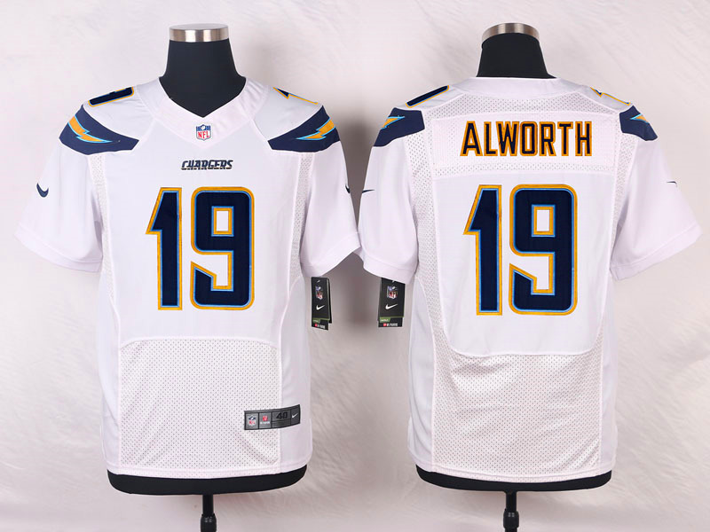 NFL Customize San Diego Chargers 19 Alworth White Men Nike Elite Jerseys