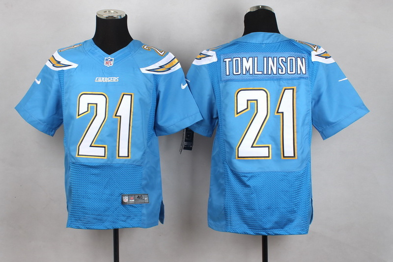 San Diego Chargers 21 Tomlinson Light Blue Men Nike Elite Jerseys