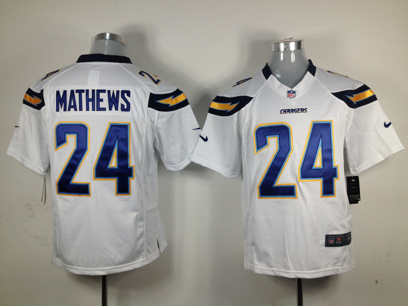 San Diego Chargers 24 mathews white Game nike jerseys