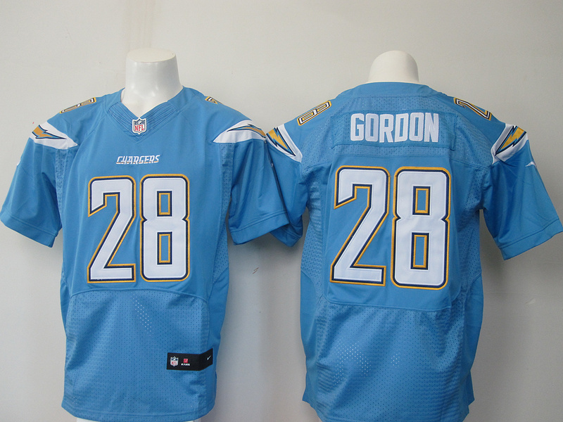 Los Angeles Chargers 28 Goroon Light Blue Elite Nike Jerseys