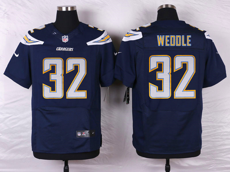 NFL Customize San Diego Chargers 32 Eric Weddle Blue 2015 New Nike Elite Jerseys