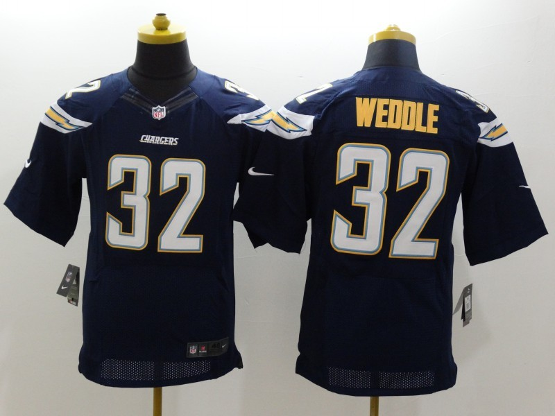 San Diego Chargers 32 Weddle DK Blue Nike Elite Jerseys