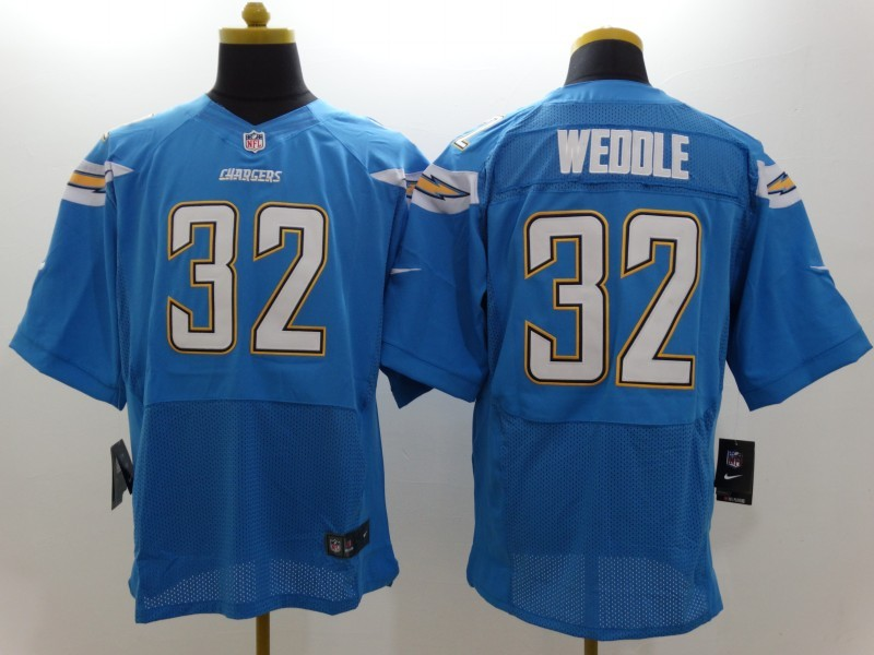 San Diego Chargers 32 Weddle LT Blue Nike Elite Jerseys