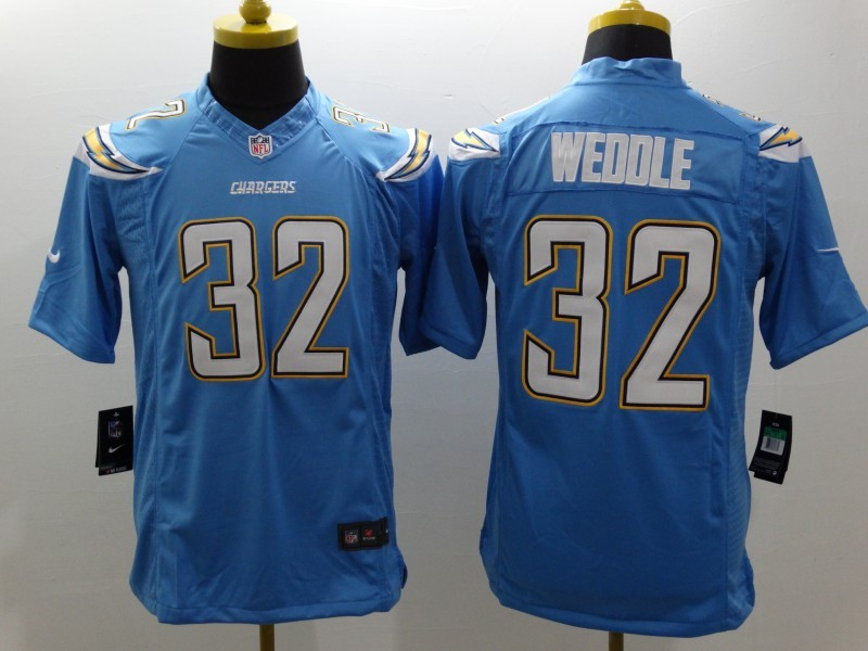 San Diego Chargers 32 Weddle LT Blue Nike Limited Jerseys