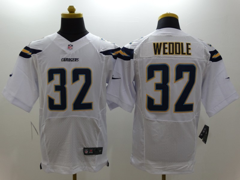 28a83b88e69 Womens San Diego Charger 32 Weddle Blue Strobe New Nike Elite Jersey