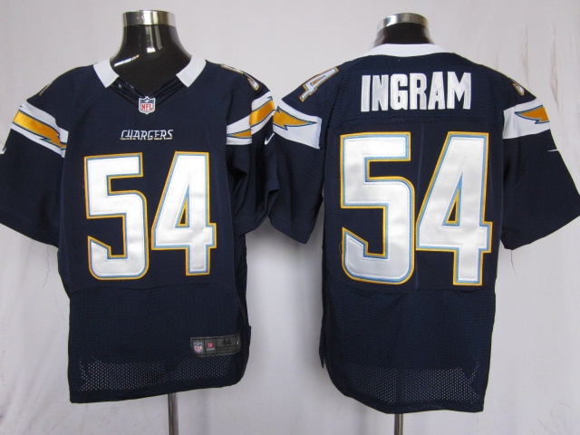 Los Angeles Chargers 54 Ingram Blue Nike Elite Jersey