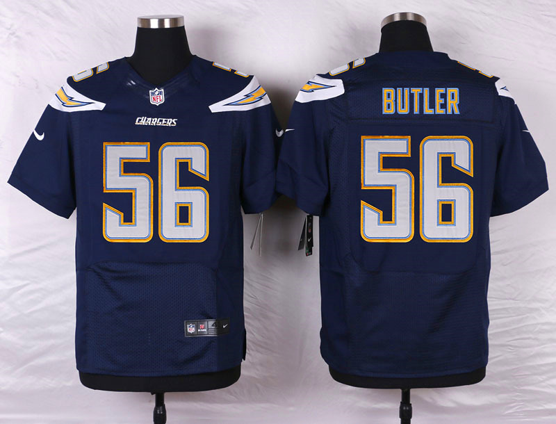 NFL Customize San Diego Chargers 56 Butler Blue Men Nike Elite Jerseys